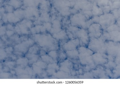 delicate fleecy clouds in the summer