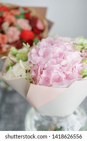 delicate, pastel coloured Small Beautiful bouquet of mixed flowers.