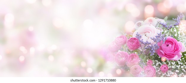 Delicate still life with roses and soft bokeh for mothers day