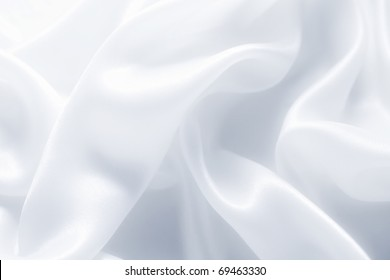 delicate waves of satin silk close up