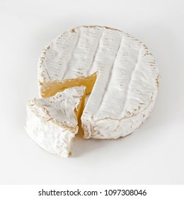 Delicios Camembert cheese, isolation on white