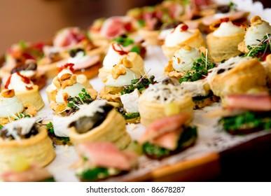 Delicious appetizer close-up