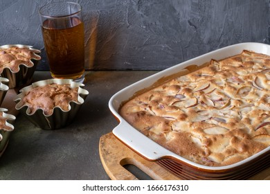 Delicious Apple pie. concept-autumn harvest cooking Apple dishes, pies, ealthy food, food concept.