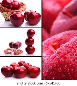 Delicious apples collage