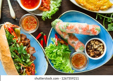 Delicious Asian food, for deliver at home, dinner with family and friends