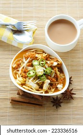 Delicious Asian Mee Rebus with a focus on food