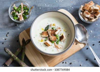 Delicious Asparagus Soup Bacon Fried Asparagus Stock Photo (Edit Now ... 95af5725f1cb