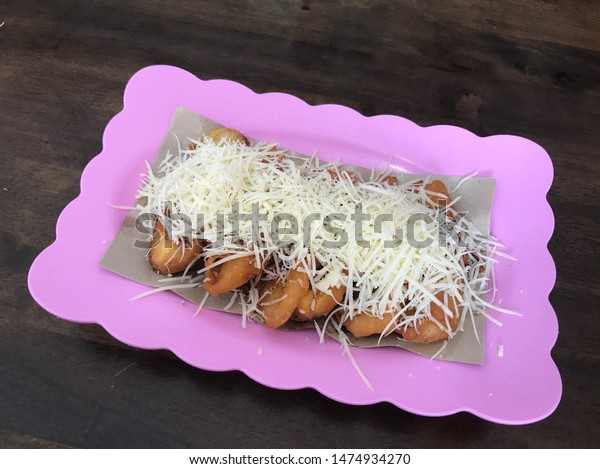 Delicious Banana Fritters Grated Cheese Stock Photo Edit Now 1474934270