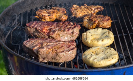 delicious BBQ on the grill