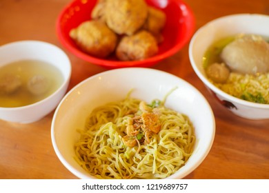 Delicious Beef Meatball/Bakso and Mie Ayam/Yamin, Indonesia