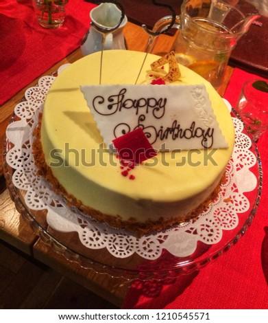 Delicious Birthday Cake Stock Photo Edit Now 1210545571