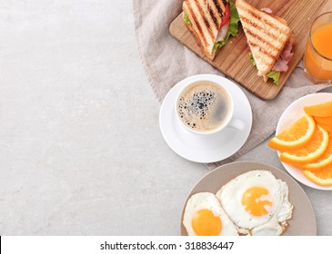 Delicious breakfast on the table