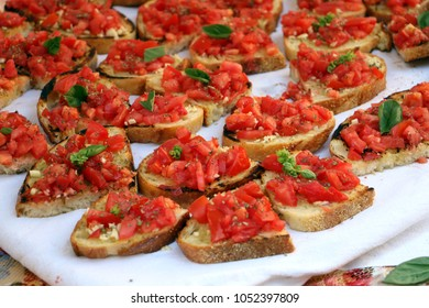 delicious bruschetta slices