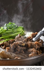 Delicious Bulgogi in a hot pot