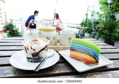 Delicious cake by the sea
