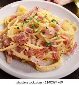 Delicious carbonara pasta