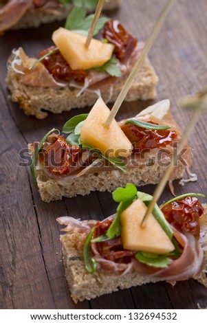 delicious catering finger food