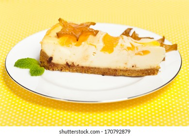 Delicious Cheesecake with Exotic Star Fruit