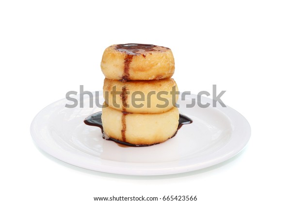 delicious cheesecakes isolated on white background