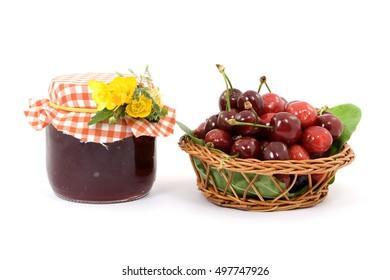 delicious cherry fruit studio isolated