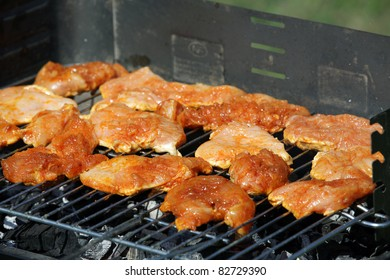 delicious chiken on the grill