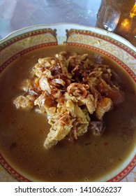 "delicious chiken soup called ""tongseng"" the Indonesian traditional food"