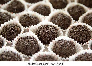 Delicious chocolate Brigadier