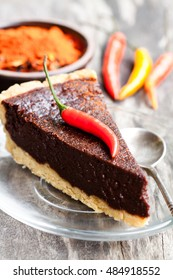 Delicious  chocolate cake with chilli