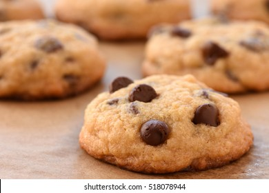 Delicious Chocolate Chip Cookies on a Tray