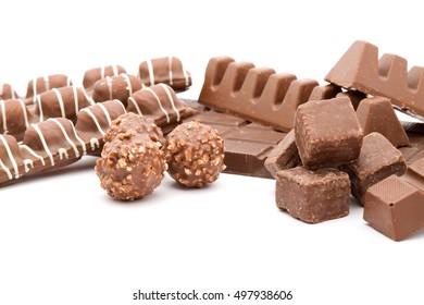 delicious chocolate dessert studio isolated