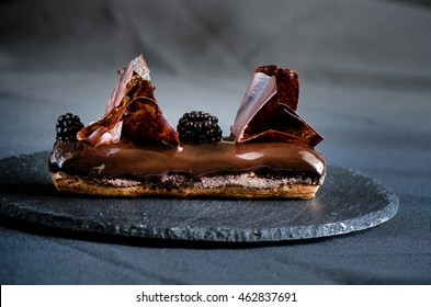 Delicious chocolate eclair