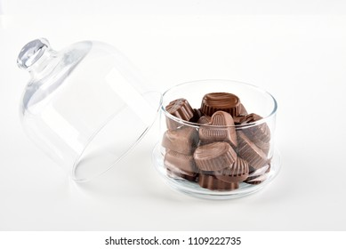 delicious chocolates in a glass bowl