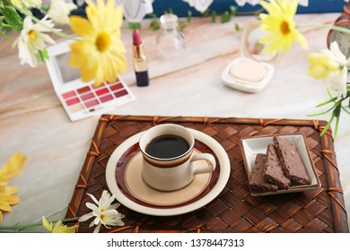 Delicious coffee and sweets.