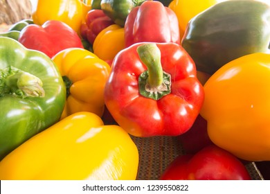 Delicious and colorful bell peppers