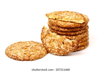 delicious cookies isolated on white background