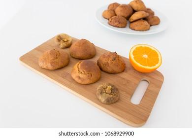 Delicious cookies with orange
