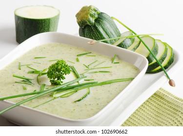 Delicious creamy vegetable soup