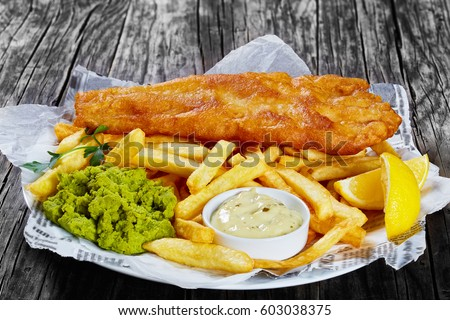 delicious crispy fish chips fried cod の写真素材 今すぐ編集