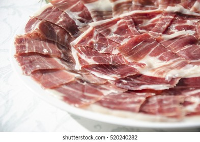 Delicious cured ham