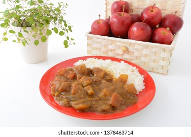 Delicious curry and rice.