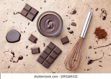 Delicious dark chocolate background