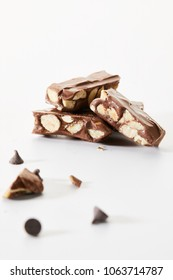 Delicious dessert chocolate nougat