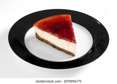 Delicious dessert on white dish