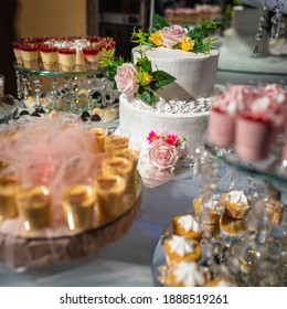 Delicious desserts decorated for events served on a table
