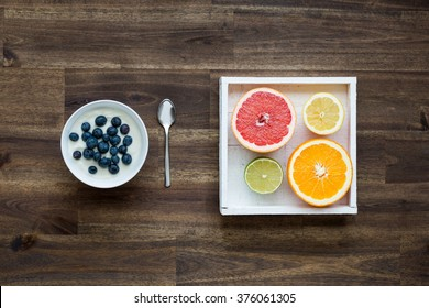 Delicious dish with fresh fruits