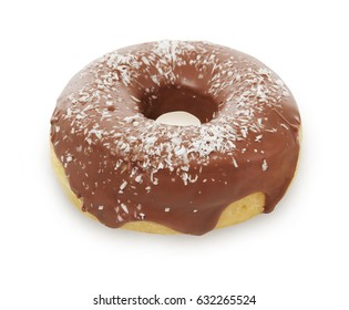 Delicious donut isolated on white