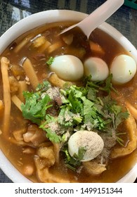 Delicious fish maw with quail eggs.