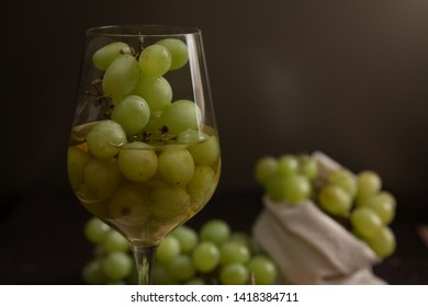 delicious French wine with grapes