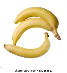 Delicious fresh banana on a white background, shot in studio isolated.