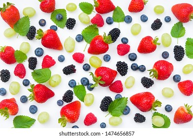 Delicious Fresh Berry Mix on white background